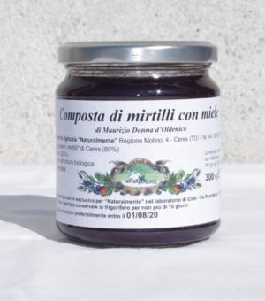 composta mirtilli miele Azienda Agricola Naturalmente Ceres